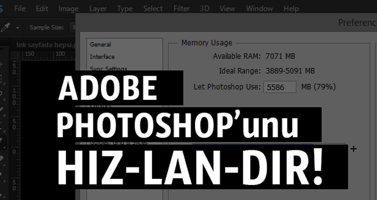 Adobe Photoshop'u Hızlandır